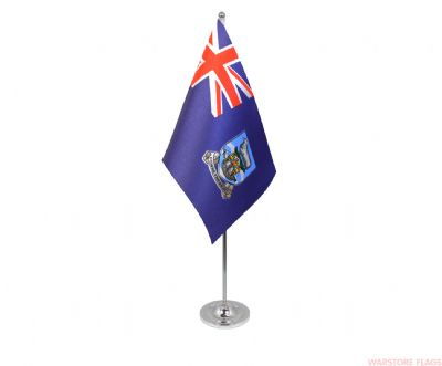 FALKLAND ISLANDS - DELUXE SATIN TABLE FLAG